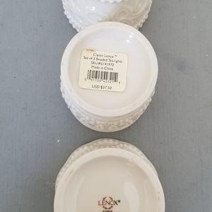 Lenox Accents - 3 piece Lenox Tea light Holders